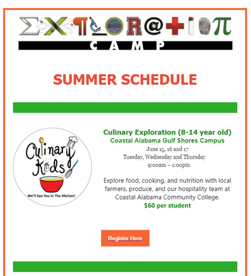 Culinary Exploration Camp