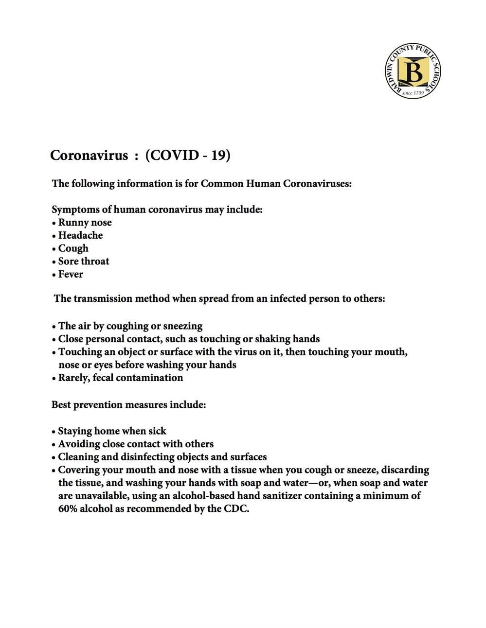 COVID-19 Disinfection and Sanitization Procedures (English)