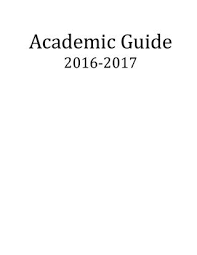 2016 Academic Guide for Class of 2020
