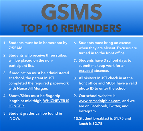 GSMS Reminders