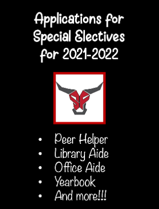 It's time to apply for special electives for 2021-2022!!!