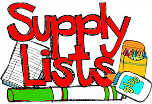 2017-2018 Supply Lists