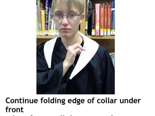 Graduation 2017 / How To Attach A Collar To Gown