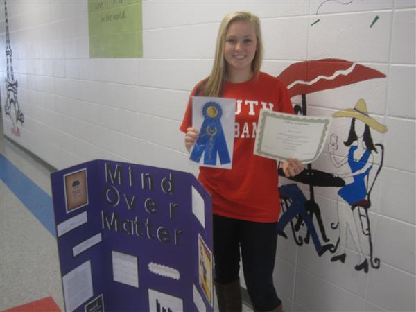 McKenna Redding 1st Place Regional Science Fair